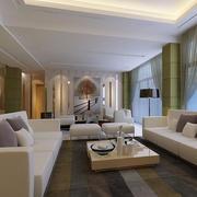 公寓客厅沙发茶几布置