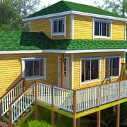 春色满园的木屋