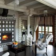 别墅室内美式客厅