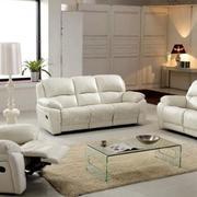 商品房客厅米白色沙发