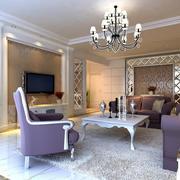 紫色浪漫客厅沙发