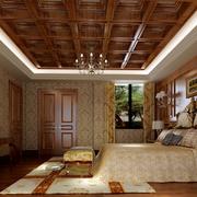 卧室实木吊顶欣赏