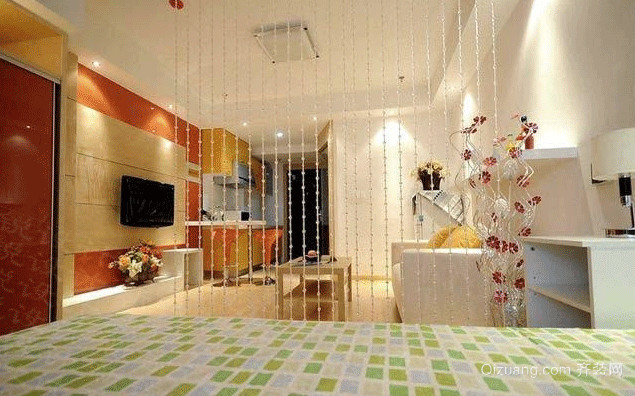 时尚大气的单身公寓装修效果图