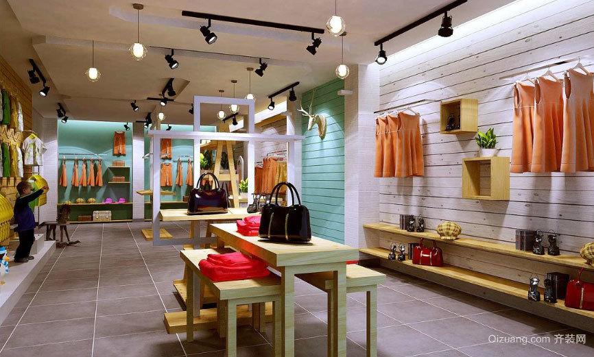 别具特色的韩式服装店装修效果图