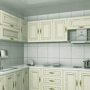 白色干净厨房设计