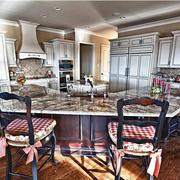 美式田园的家居厨房