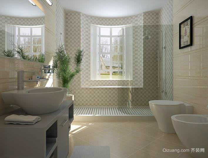 85平米住宅马可波罗地板瓷砖装修效果图