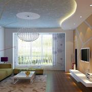 客厅橙色的背景墙