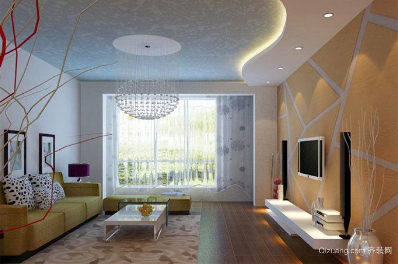 2015现代简约风格硅藻客厅电视背景墙装修效果图