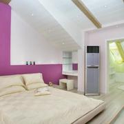 阁楼紫色个性背景墙