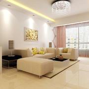米白色的客厅空间