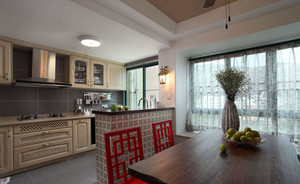庄重优雅的中式风格厨房设计装修效果图大全