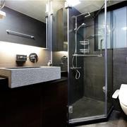 黑色靓丽的洗手间
