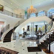 气势豪华的别墅楼梯