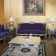 客厅紫色家具