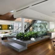 复式楼家居客厅地板