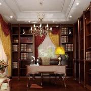 中式家装书房展示