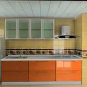 厨房黄色瓷砖展示