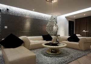 公寓客厅水晶吊灯