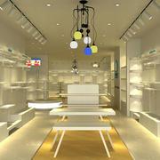 米白色的童装店展示