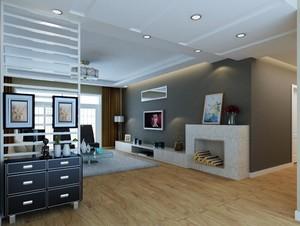 100平米客厅生态木地板砖装修效果图