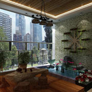 中式园林式花园布置