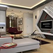 客厅个性电视墙