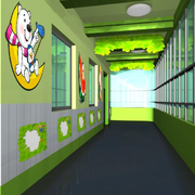 幼儿园绿色走廊展示