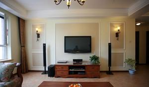 时尚美式风格电视背景墙装修图片