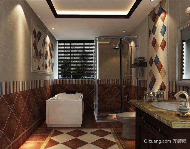 单身公寓东南亚风格卫生间装修效果图