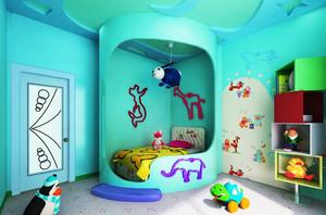 现代简约风格交换空间儿童房装修效果图