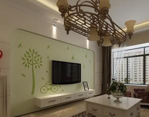 会呼吸的客厅硅藻泥电视背景墙装修效果图