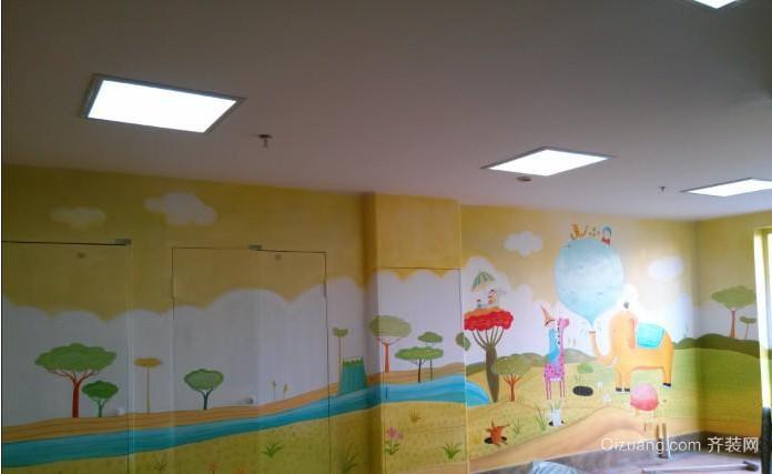 新颖的幼儿园手绘墙装修效果图