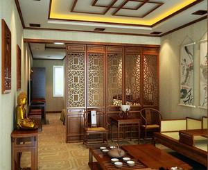 中式客厅屏风隔断