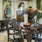 餐厅花束装饰展示