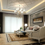 现代客厅大吊顶