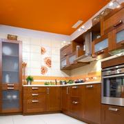 厨房橙色吊顶展示