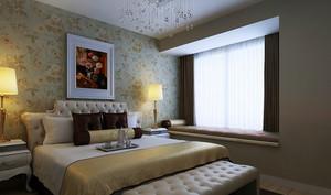 大户型时尚都市风格卧室背景墙装修效果图欣赏