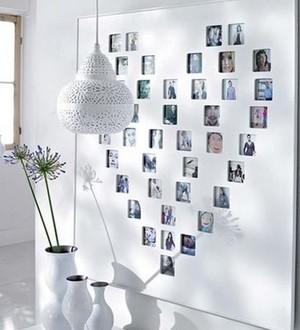 小户型心形照片墙