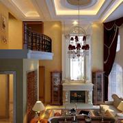 美式风格的客厅吊顶