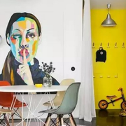 家居餐厅手绘墙