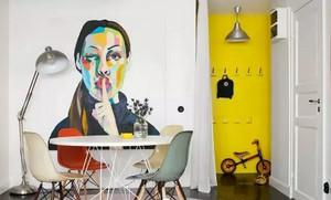 北欧简约风 餐厅背景墙装修效果图欣赏