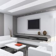 灰白色的公寓客厅
