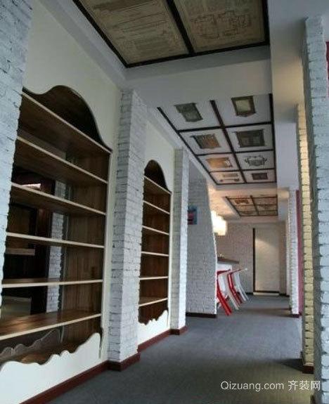 小别墅美式走廊吊顶装潢效果图