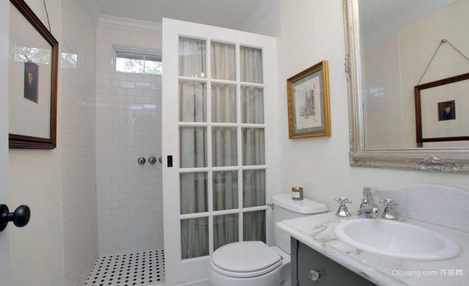 两室一厅现代简约风格卫生间隔断装修