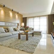 客厅生态木沙发背景