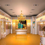 黄色靓丽衣服店