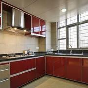 别墅不锈钢厨房橱柜