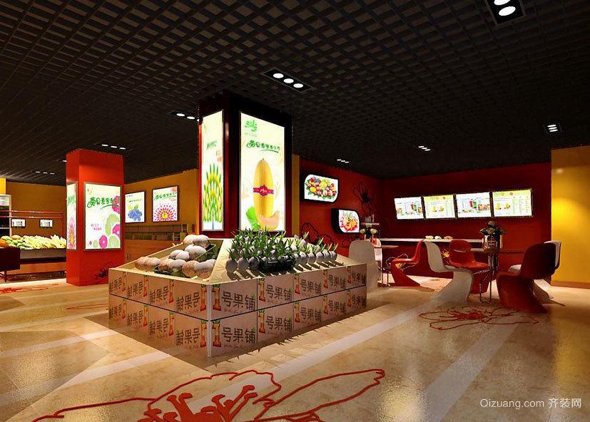 2015闹市中的小型水果店装修效果图鉴赏