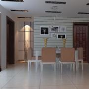复式楼餐厅照片墙装饰